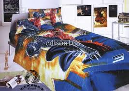 Spiderman Comforter Set Full New Beautiful Spiderman Cartoon Size Kids Bed Quilt Cover Bedding