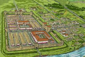 fishbourne roman palace floor plan binchester roman fort vinovia roman pinterest roman forts