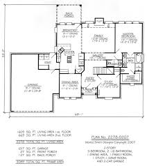 2278 0207 sq feet 3 bedroom 2 story house plan 2 story 3 bedroom 2 1 2 bathroom 1 family room