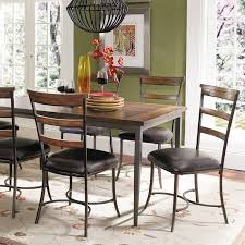 hillsdale cameron 7 piece rectangle wood and metal dining table hillsdale cameron 7 piece rectangle wood and metal dining table set with ladder back chairs hayneedle