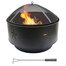 home depot gas fire pit black friday hampton bay tipton 34 in steel deep bowl fire pit in oil rubbed
