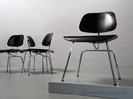 sold dining chair metal dcm charles eames herman miller vitra black