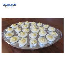 deviled egg tray with cover food cold on a buffet iced eggs holds kitchen crushed container