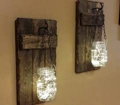mason jar sconces candle holders rustic home decor candle
