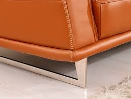 Modern Leather Sofa Modern Orange Leather Sofa Ef531 Leather Sofas