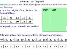 drawing stem and leaf diagrams by mr mathematics teaching