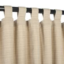 50 X 96 Curtains Sunbrella Outdoor Curtain With Tabs Dupione Sand 50 In X 96 In