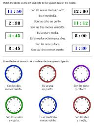 25 page worksheet packet on telling time in spanish plus seasons