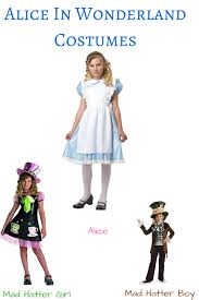 alice in wonderland costumes for kids october 2017