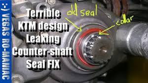 leaking countershaft seal ktm 250 xc fix poor design on 2