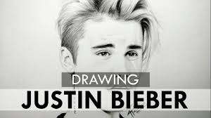 drawing justin bieber realistic sketch youtube