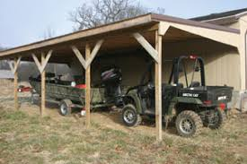 How To Build A Pole Barn Shed by Build An Attached Carport Extreme How To