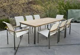 Teak And Stainless Steel Outdoor Furniture by Tivoli Square Dining Table From Kingsley Bate