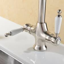 Solid And Heavy Brushed Steel Kitchen Sink Mixer Tapsuperb Taps - Brushed steel kitchen sinks