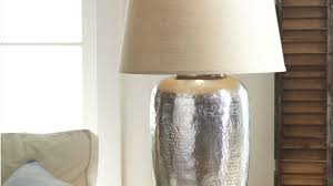 brilliant hammered table lamp base only within hammered metal