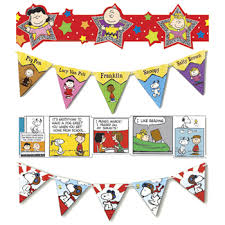 classroom decorations peanuts deco trim and pennant banners