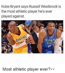 Kobe Bryant Memes - kobe bryant says russell westbrook is the most athletic player he s