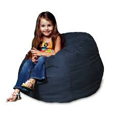 Cheap Oversized Bean Bag Chairs Amazon Com Chill Sack Kid U0027s Memory Foam Bean Bag Chair Navy