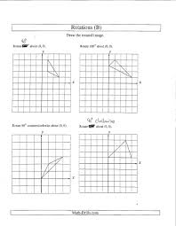 Reflections And Rotations Worksheet 16 Best Images Of Rotations Worksheet 8th Grade Geometry