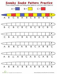 kindergarten pattern worksheet worksheets