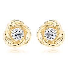 gold and diamond earrings 53 earrings studs oversized knot stud earring in 14k