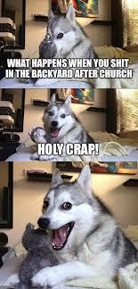 Holy Crap Meme - bad pun dog meme imgflip