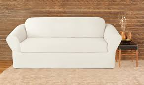 White Sofa Cover by Surefit Furniture Slipcovers