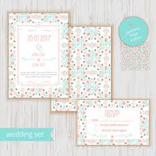 wedding invitation rsvp date stylish geometric save the date or wedding invitation card wirh