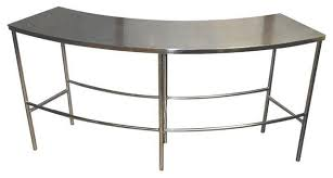 Stainless Steel Sofa Table Mid Century Curved Stainless Steel Table 1 580 Est Retail