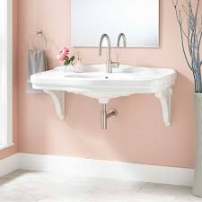 porcelain wall mount sink 42 peloso porcelain wall mount bathroom sink with regard to mounted