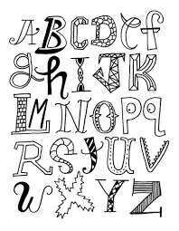 cool alphabet letters designs to draw 2018 of printables