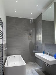 Contemporary Tile Bathroom - hansgrohe shower in bathroom contemporary with white subway tile