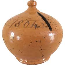 money box 19th donyatt pottery coin bank money box dated 1804 from