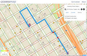 Washington University Campus Map by New Route Finding Map Lets Seattle Pedestrians Avoid Hills