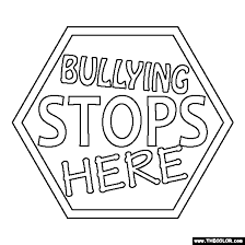 No Bullying Coloring Pages bullying stops here coloring page