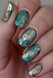 the digit al dozen cuprum texture nail art nail foil foil
