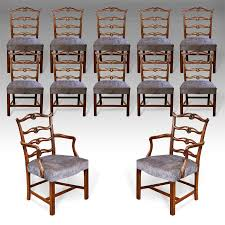 set of 12 antique dining chairs chippendale dining chairs