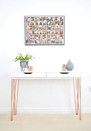 ikea console hack ikea ekby alex hairpin console table hack home decor pinterest