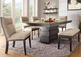 Grey Fabric Dining Room Chairs Modern Dining Room Design With Espresso Dining Room Table Set
