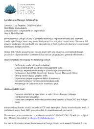Internship On Resume Contemporary Landscape Architecture Internships On Architecture
