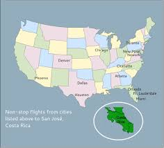 san jose map in usa volare plastic surgery recovery nonstop air flights into costa rica