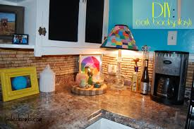 kitchen backsplash diy how to make a cork backsplash for your kitchen tutorial jaderbomb