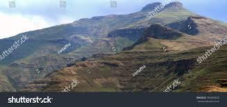 Drakensberg Mountains Map Golden Gate Highlands National Park Drakensberg Stock Photo