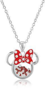 silver plated necklace images Disney silver plated minnie mouse silhouette shaker jpg