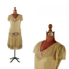 vintage 1920 u0027s sheer chiffon beaded sequin embellished drop
