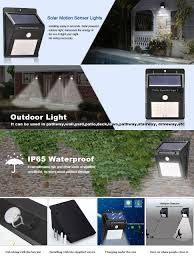 amazon com solar lights outdoor 20 led with motion sensor wall