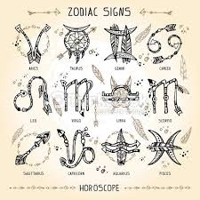 collection of 25 small size yellow pisces zodiac symbol