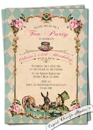 new to cupiddesigns on etsy alice in wonderland invitation