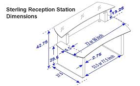 Ada Reception Desk Gorgeous Reception Desk Dimensions Standards Good Height Of A