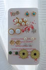organize stud earrings organize stud earrings on business cards jewels